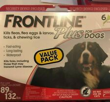 Frontline Plus for Xlg Dogs lbs. 6 Doses Genuine *Epa Approved* Free Shipping