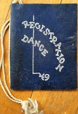 Dance Card: 1949 University of Illinois, Illini Union, Champagne, IL - Dancing
