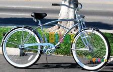 "Micargi Cougar GTS, Chrome - Men's 26"" Beach Cruiser Bike"
