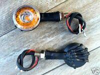 X2 Paires de Clignotants Bras de squelette NOIR  ROND - moto trike custom