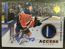 19-20 UD UPPER DECK ULTIMATE CONNOR MCDAVID ACCESS AUTO PATCH 8/25 HARD SIGNED