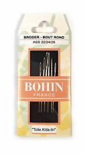 Bohin Assorted Tapestry Needles 22/24/26 Blunt Point for Canvas