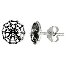 Sterling Silver Spider Stud Earrings