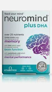 LOWER PRICE Vitabiotics Neurozan - Neuromind Plus DHA56 Tabs Caps Exp 07/23