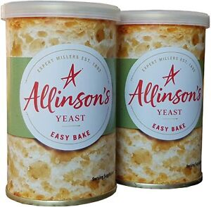 2 x Allinsons Easy Bake Yeast 100g For Bread Machines or Hand Baking