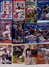 32 Minnesota Twins baseball schedules 2001-17 Stewart Santana Mauer Morneau