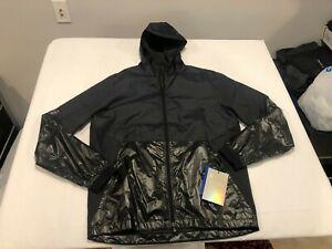 NWT $120.00 Under Armour Mens Rush Legacy Windbreaker Jacket Black Sz MEDIUM