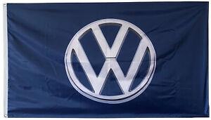 VOLKSWAGEN BLUE CHROME FLAG BANNER 3X5FT