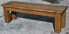 """any size made""  SOLID WOOD CHUNKY RUSTIC PLANK PINE TABLE BENCH SAWN FURNITURE"