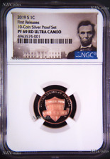 2019 S Proof LINCOLN CENT Penny NGC PF69 RD from 10-coin-silver-set FR Portrait