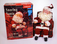 Animated Snoring Santa in Armchair Gemmy 1994 - Not Working