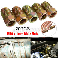 20x 3/16'' Copper Brake Line Pipe Fittings Metric Male End Union Nuts M10 x 1mm