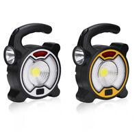 2 in 1 COB LED Flashlight &Working Light Solar/Battery Powered Emergency Lantern