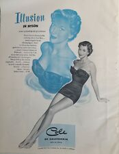 1950 Cole of California women's swimsuit deep see bra vintage fashion ad