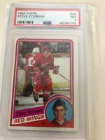 1984 Topps #49 Steve Yzerman Rc Psa 7 Nm-mt Detroit Red Wings Hof Rookie