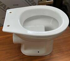 Creavid Standflachspül WC Flachspüler bodenstehend Klo Toilette weiß