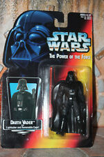 Darth Vader Star Wars Power Of The Force 2 1995 long lightsaber Red Card