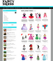 FANCY DRESS SALES BUSINESS UK WEBSITE WITH 1 YEARS HOSTING & NEW DOMAIN