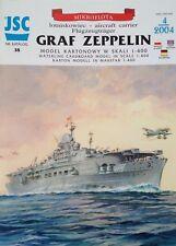 German Aircraft Carrier Graf Zeppelin Cardboard Waterline Model Scale 1:400