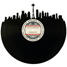 Seattle Skyline Vinyl Record Art