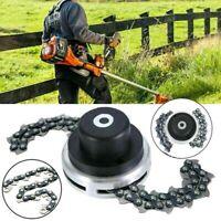 1Pair Universal 65Mn Lawn Mower Trimmer Head Coil Chain Brushcutter Garden Grass