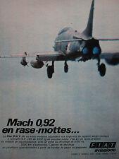4/1970 PUB FIAT AVIAZIONE FIAT G.91 Y ITALIAN AIR FORCE ORIGINAL FRENCH AD