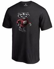 W@W! NWT Wisconsin Badger Men's Short Sleeve Midnight T-shirt Size L Football