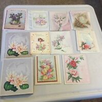 greeting cards  unused vintage All Occasion 10 Card Box Letter L Logo
