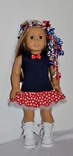 AMERICAN MADE DOLL CLOTHES FOR 18 INCH GIRL DOLLS DRESS LOT- PATRIOTIC DRESS