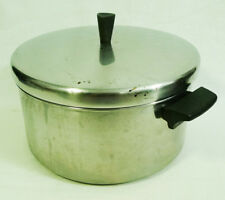 Revere Ware Stainless Steel 6 Qt. Stock Pot Cookware with Lid