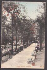 Postcard Hong Kong China early view of Public Garden