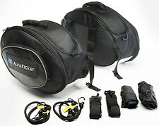 Autokicker® Side Kick Saddle Bag kit Motorcycle Motorbike Panniers luggage 60L