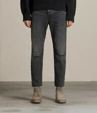 ALL SAINTS Men's SID Straight Crop Jeans Washed Black W31