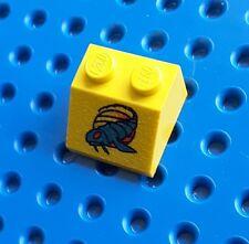 Lego  3039px12 Yellow Slope Brick 45 2x2 Blue Gooberfish Pattern. From set 7141
