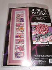 "Design Works Beautiful LANGUAGE OF FLOWERS Counted CS Kit  Hard to Find 6"" x 28"""