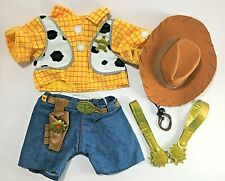 Build A Bear Bab Woody Toy Story Cowboy Hat Sheriff Shirt Outfit Spurs 5 Pieces
