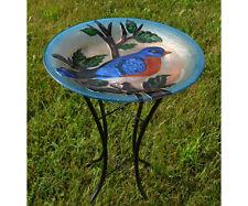 Bluebird Glass Birdbath with Stand