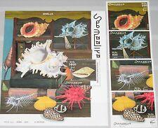 SOMALIA 2003 unlisted set + Block Schnecken Muscheln Sea Shells Snails Fauna MNH