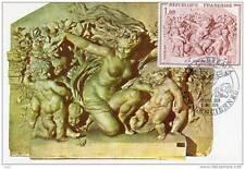 Valenciennes - Carpeaux - Le Triomphe de Flore - Carte postale + Timbre premier