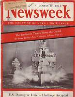 1941 Newsweek November 10-Japan hints at new action