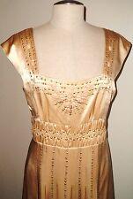 NWOT NANETTE LEPORE GOLD SILK DANCING MACHINE DRESS 12