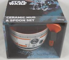 Disney Star Wars The Force Awakens BB-8 Droid Ceramic  Soup Bowl Mug With Spoon