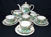 Antique Japanese Noritake Porcelain Dragonware Tea Set Yamada China c1920s