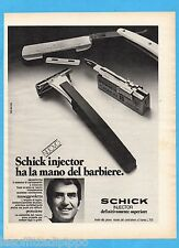 QUATTROR973-PUBBLICITA'/ADVERTISING-1973- SCHICK INJECTOR