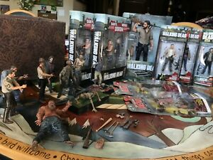 The Walking Dead McFarlane Action Figure Lot NIB and loose toys, extras
