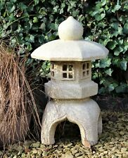 Garden Solar Ornament Chinese Pagoda Buddha, Japanese Lantern decor Ceramic