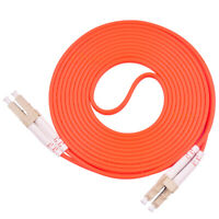 100m LC UPC to LC UPC Duplex 50/125 OM2 Multimode Fiber Optic Patch Cord Cable