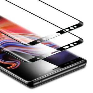 2x Samsung Galaxy Note 9  Glas 9H Display Displayschutz  Schwarz
