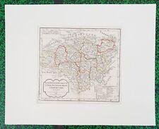 XVIII ème- Berri Lyonois Franche C- Belle Carte Vaugondy & Delamarche 50x40 1795