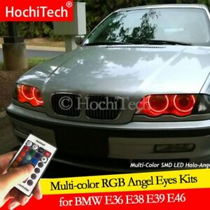 For BMW 3 5 7 Series DRL E36 E38 E39 E46 M4 Angel Eyes LED RGB Multi-color Halo